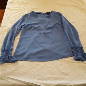 Blue blouse size small petite